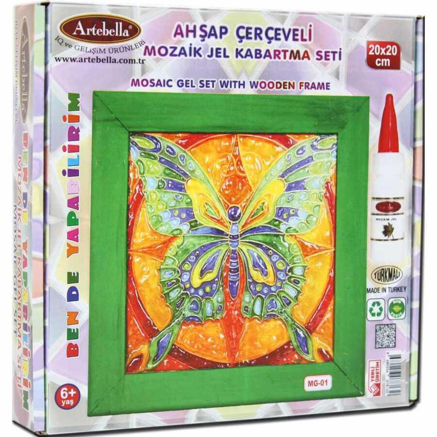 artebella ben de yapabilirim mozaik jel kabartma seti 20x20 cm mg 01 610609 14 B