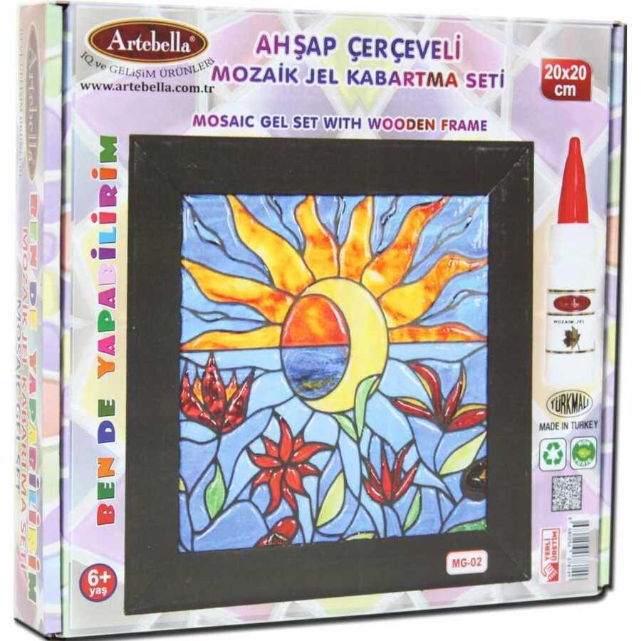 artebella ben de yapabilirim mozaik jel kabartma seti 20x20 cm mg 02 609897 14 B -Artebella Art & Craft Hobi ve Sanat Ürünleri