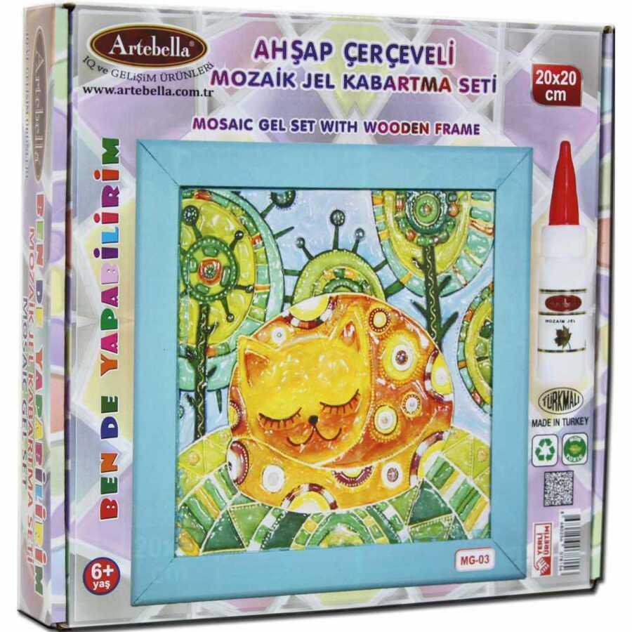 artebella ben de yapabilirim mozaik jel kabartma seti 20x20 cm mg 03 610615 14 B -Artebella Art & Craft Hobi ve Sanat Ürünleri