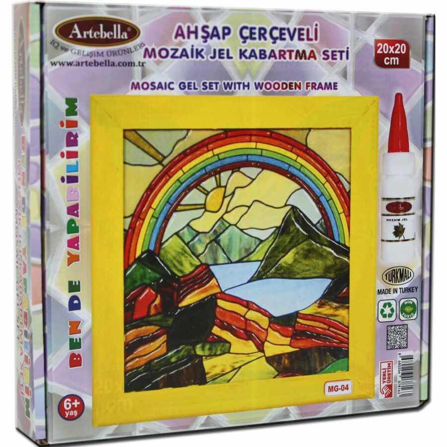 artebella ben de yapabilirim mozaik jel kabartma seti 20x20 cm mg 04 610621 14 B -Artebella Art & Craft Hobi ve Sanat Ürünleri