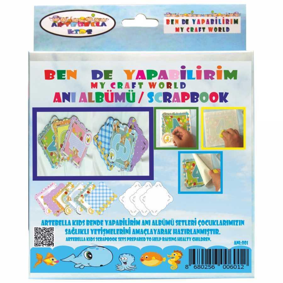 artebella bende yapabilirim scrapbook ani albumu seti 001 598228 42 B -Artebella Art & Craft Hobi ve Sanat Ürünleri