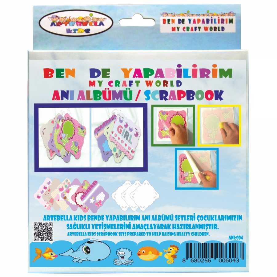 artebella bende yapabilirim scrapbook ani albumu seti 4 598231 42 B -Artebella Art & Craft Hobi ve Sanat Ürünleri