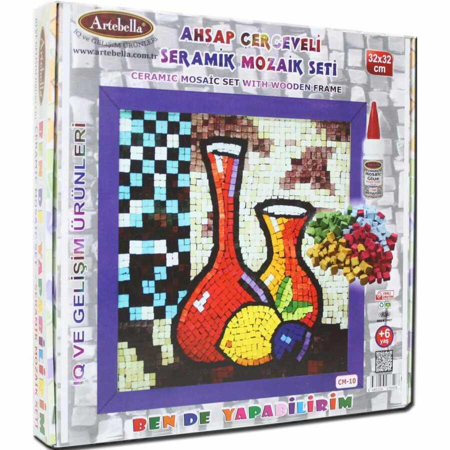 artebella bende yapabilirim seramik mozaik cm 10 600316 14 B -Artebella Art & Craft Hobi ve Sanat Ürünleri