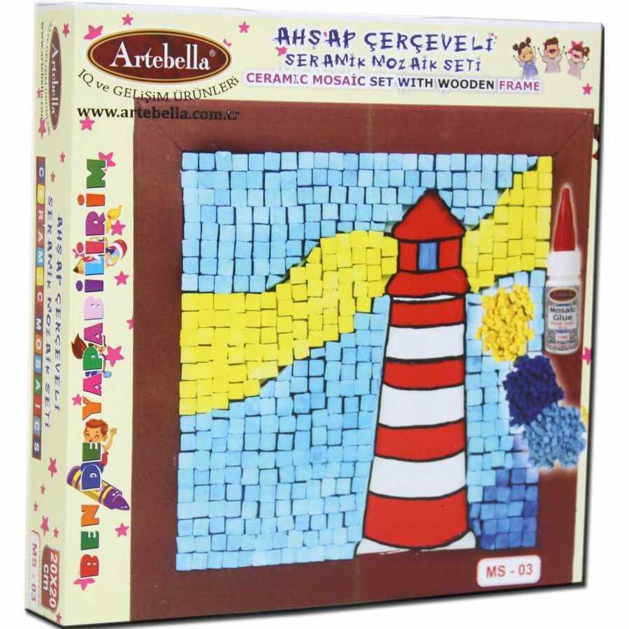 artebella bende yapabilirim seramik mozaik seti ms 03 610100 14 B -Artebella Art & Craft Hobi ve Sanat Ürünleri