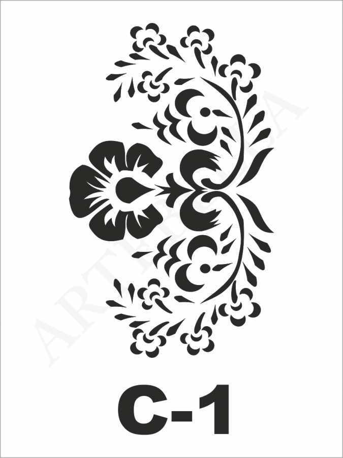 artebella c 1 stencil c serisi 15x20 cm 599957 24 B -Artebella Art & Craft Hobi ve Sanat Ürünleri