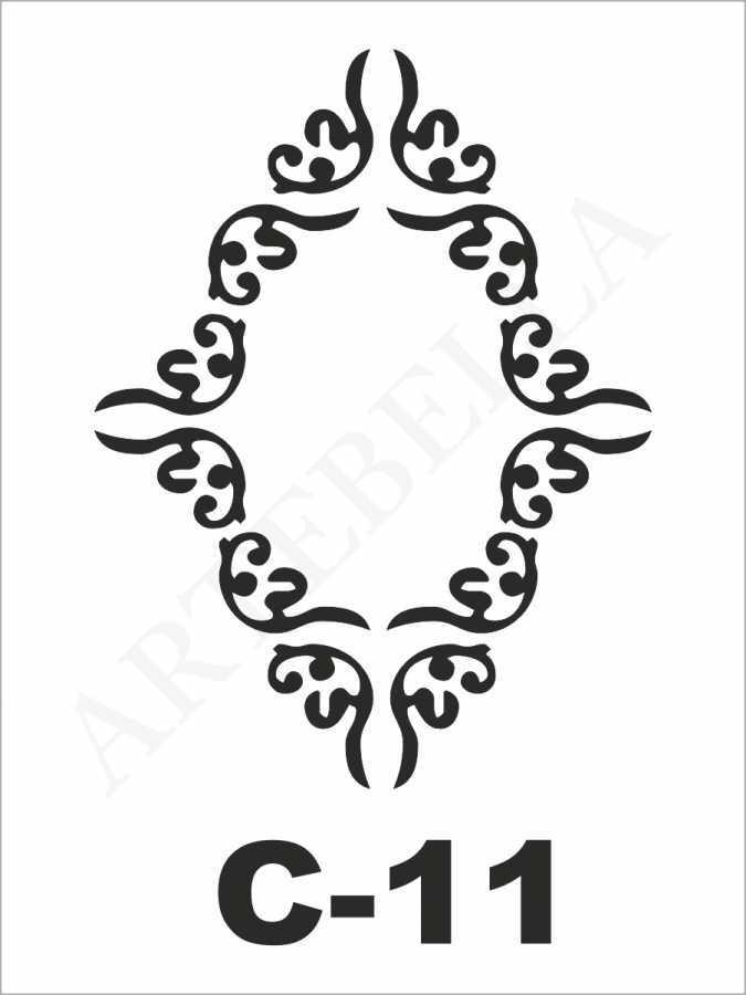 artebella c 11 stencil c serisi 15x20 cm 596237 24 B