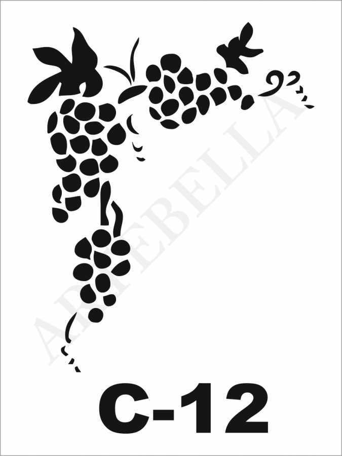 artebella c 12 stencil c serisi 15x20 cm 609170 25 B -Artebella Art & Craft Hobi ve Sanat Ürünleri