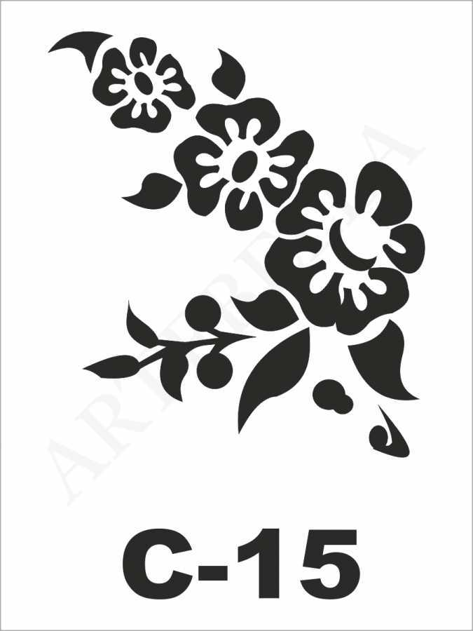 artebella c 15 stencil c serisi 15x20 cm 598384 25 B -Artebella Art & Craft Hobi ve Sanat Ürünleri