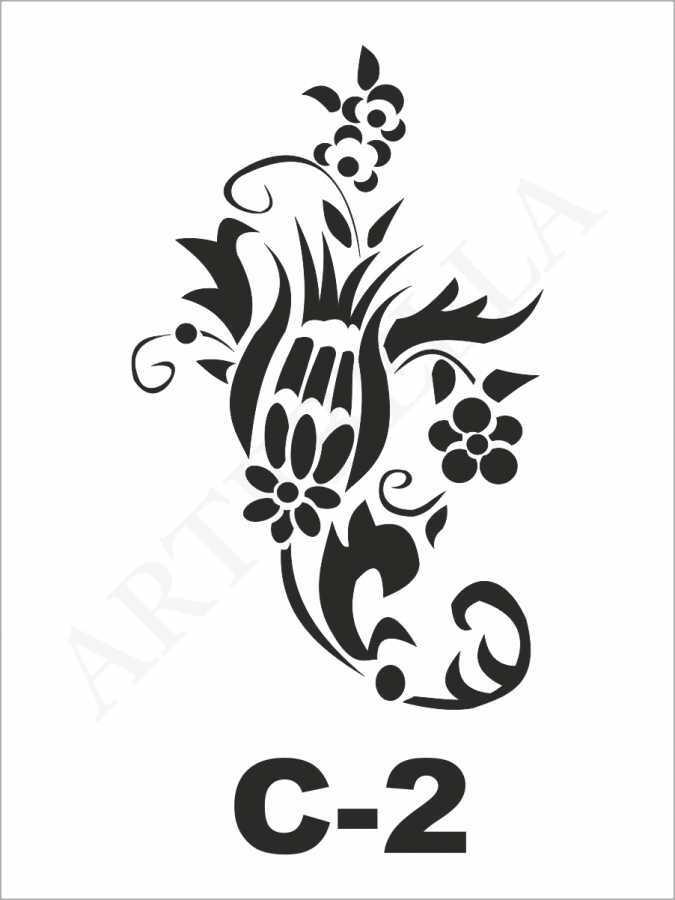 artebella c 2 stencil c serisi 15x20 cm 610591 24 B -Artebella Art & Craft Hobi ve Sanat Ürünleri