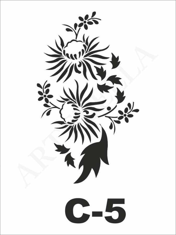 artebella c 5 stencil c serisi 15x20 cm 596233 24 B -Artebella Art & Craft Hobi ve Sanat Ürünleri