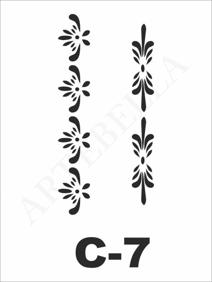 artebella c 7 stencil c serisi 15x20 cm 596235 24 B -Artebella Art & Craft Hobi ve Sanat Ürünleri