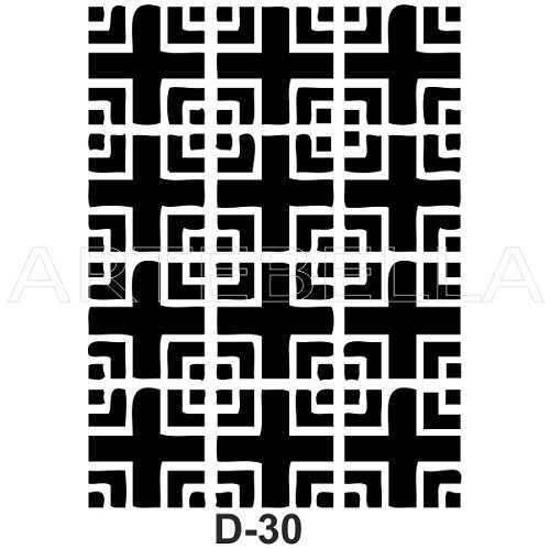 artebella d 30 stencil d serisi 20x30 cm 597118 54 B -Artebella Art & Craft Hobi ve Sanat Ürünleri