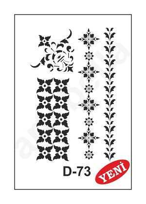 artebella d 33 stencil d serisi 20x30 cm 38 607449 35 B