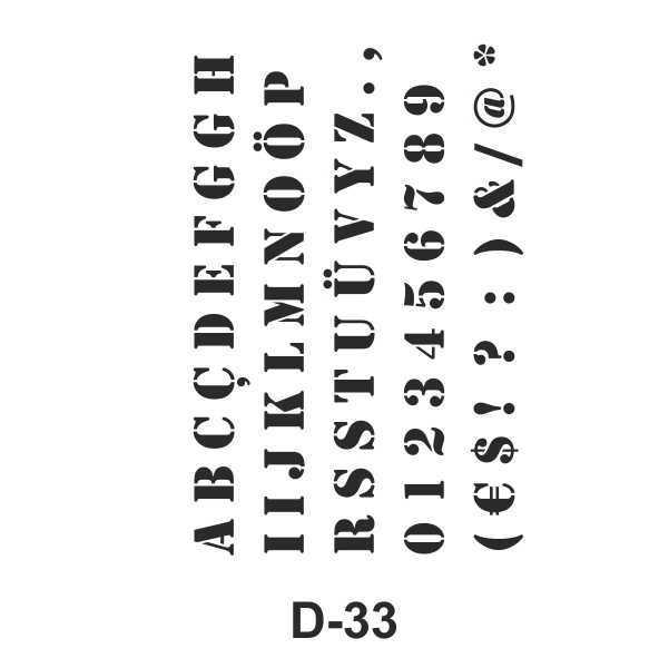 artebella d 33 stencil sablonu 609713 54 B