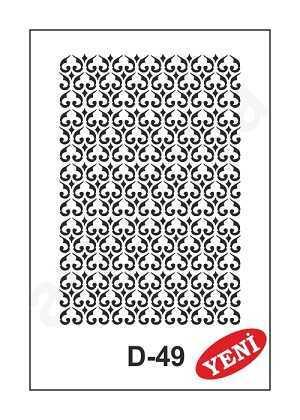 artebella d 49 stencil d serisi 20x30 cm 602011 35 B