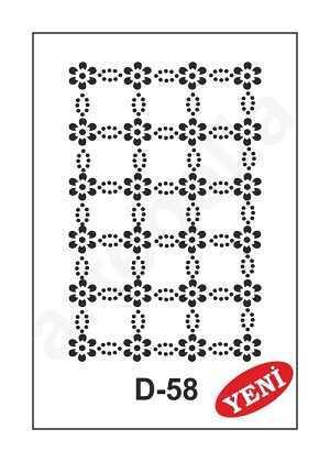 artebella d 58 stencil d serisi 20x30 cm 597330 35 B