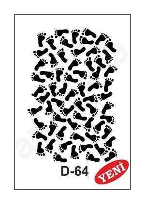 artebella d 64 stencil d serisi 20x30 cm 597338 35 B