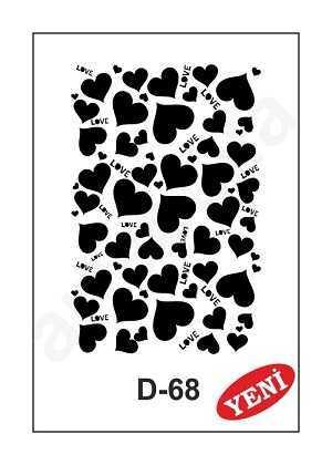 artebella d 68 stencil d serisi 20x30 cm 597344 35 B