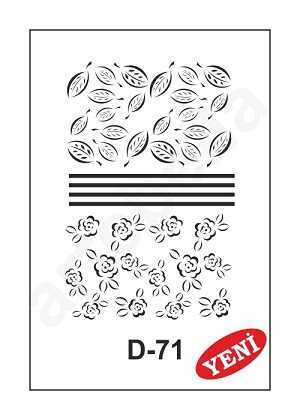 artebella d 71 stencil d serisi 20x30 cm 602029 35 B