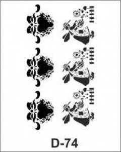 artebella d 74 stencil d serisi 20x30 cm 597352 35 B