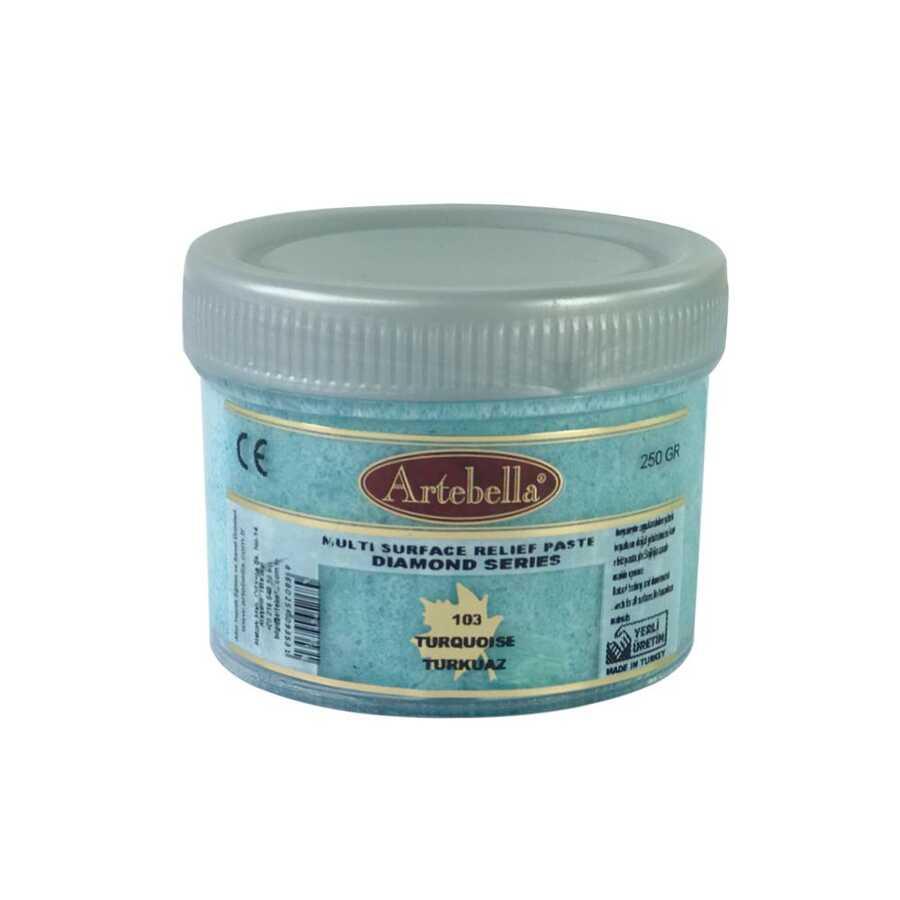 artebella diamond serisi multi rolyef pasta 103 turkuaz 250 gr 597522 14 B -Artebella Art & Craft Hobi ve Sanat Ürünleri