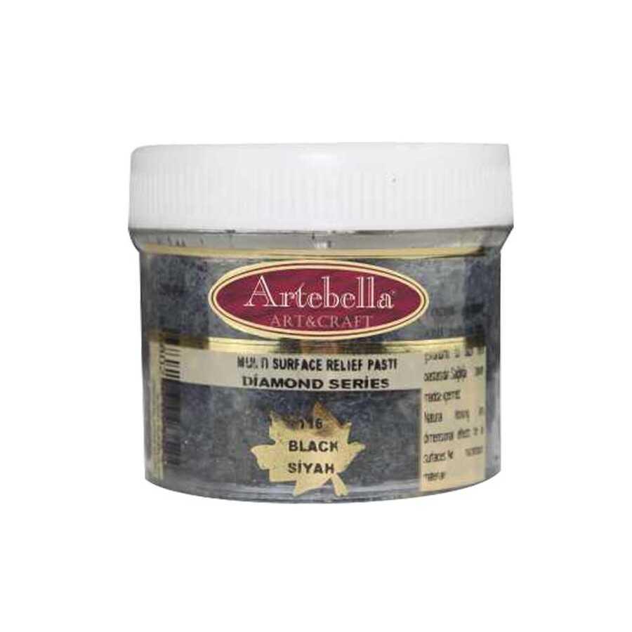 artebella diamond serisi multi rolyef pasta 116 siyah 250 gr 597518 14 B -Artebella Art & Craft Hobi ve Sanat Ürünleri