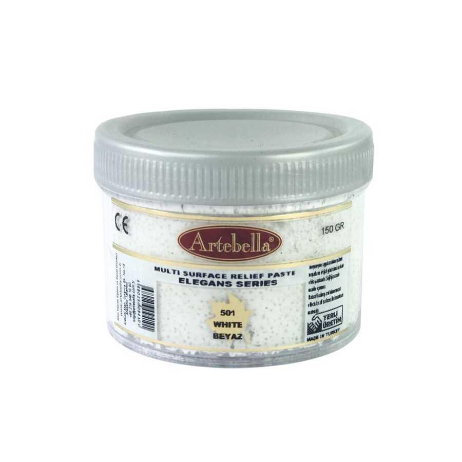 artebella elegans serisi multi rolyef pasta 501 beyaz 150 gr 597441 14 B -Artebella Art & Craft Hobi ve Sanat Ürünleri