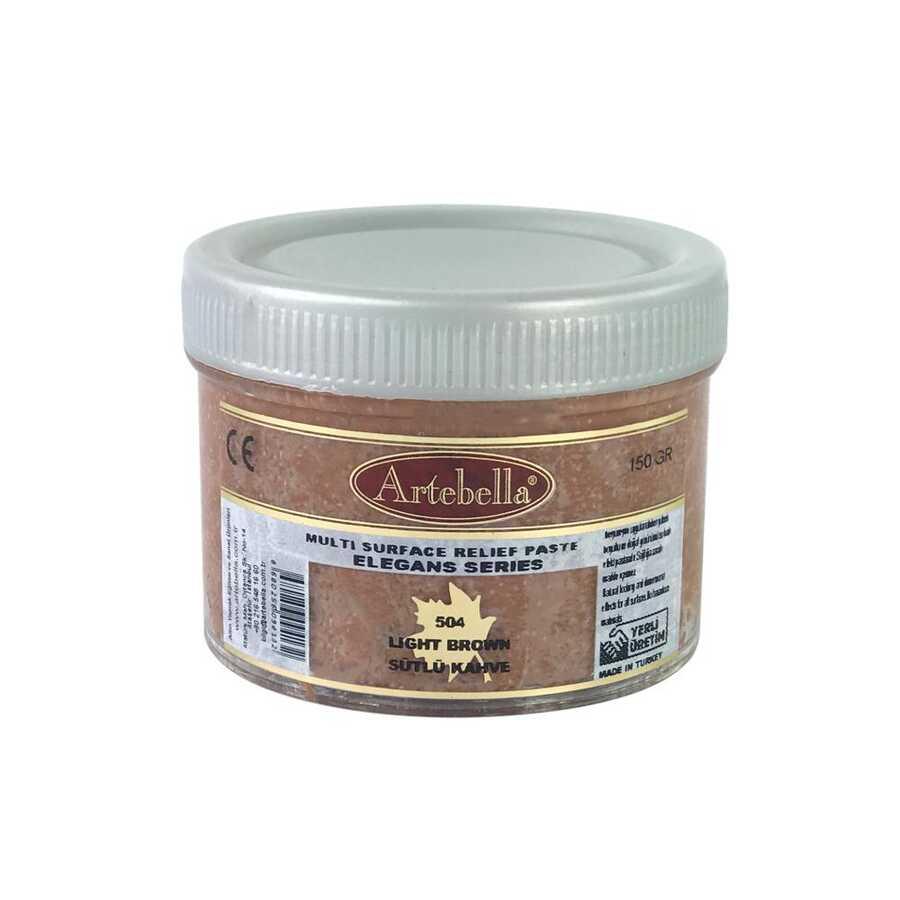 artebella elegans serisi multi rolyef pasta 504 sutlu kahve 150 gr 597447 14 B -Artebella Art & Craft Hobi ve Sanat Ürünleri