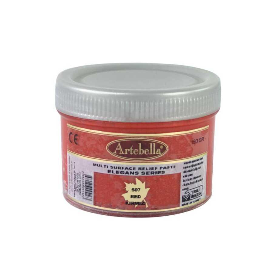 artebella elegans serisi multi rolyef pasta 507 kirmizi 150 gr 597453 14 B