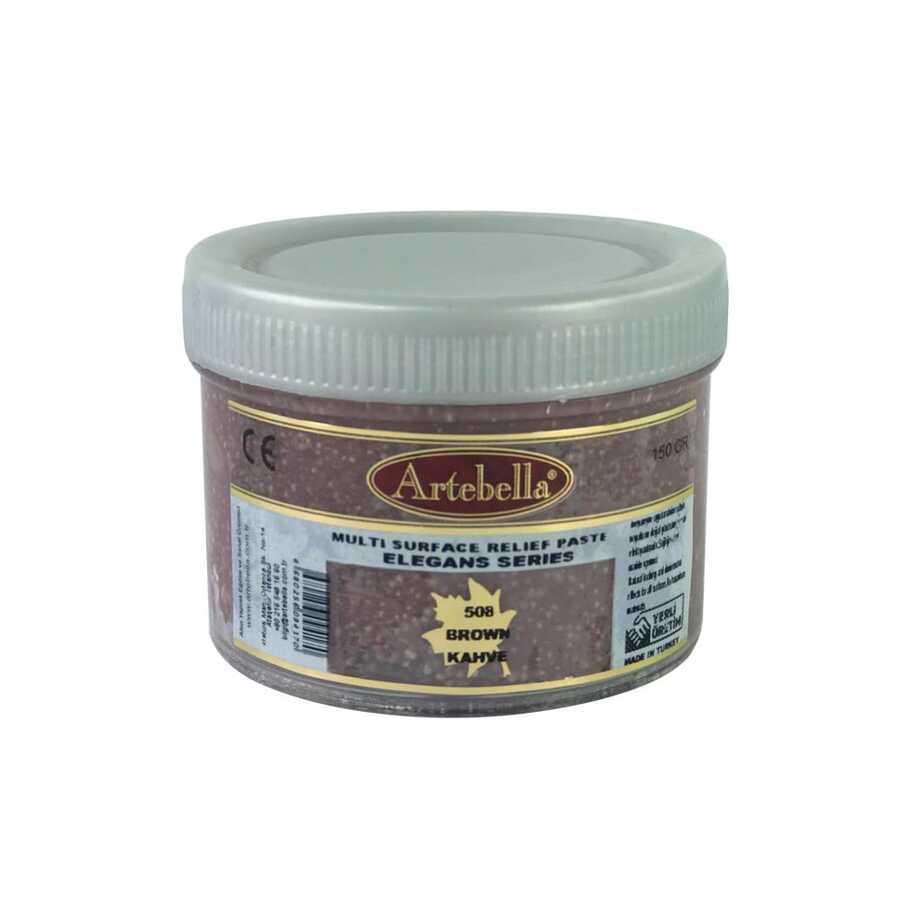 artebella elegans serisi multi rolyef pasta 508 kahverengi 150 gr 597455 14 B -Artebella Art & Craft Hobi ve Sanat Ürünleri