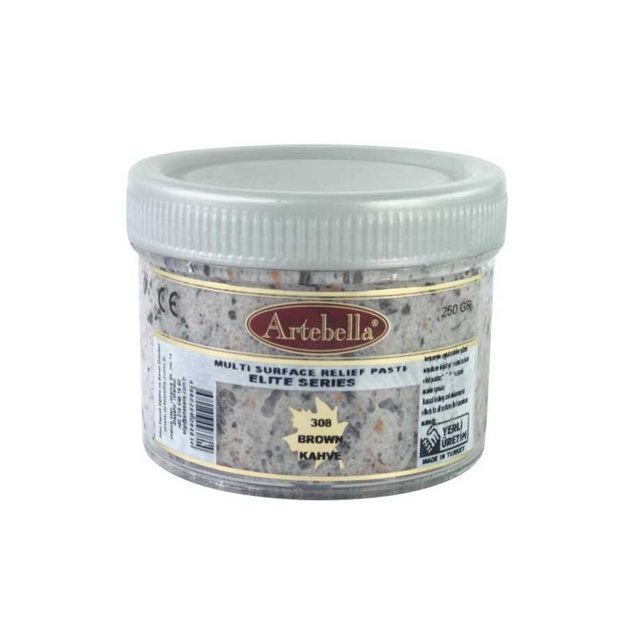 artebella elite serisi multi rolyef pasta 308 kahverengi 250 gr 597488 14 B