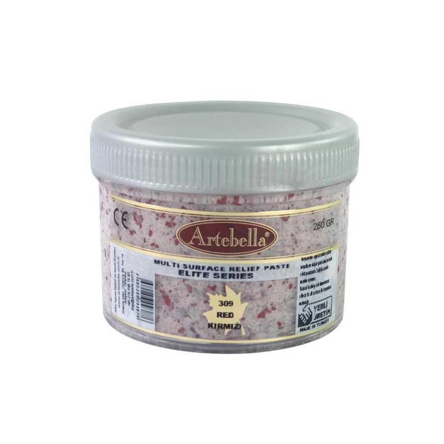 artebella elite serisi multi rolyef pasta 309 kirmizi 250 gr 597476 14 B -Artebella Art & Craft Hobi ve Sanat Ürünleri