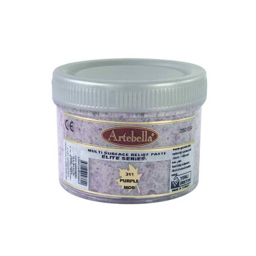 artebella elite serisi multi rolyef pasta 311 mor 250 gr 597472 14 B -Artebella Art & Craft Hobi ve Sanat Ürünleri