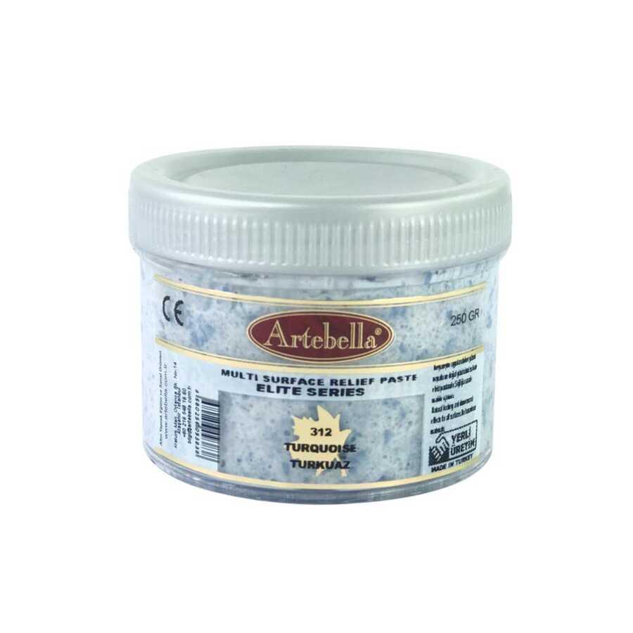 artebella elite serisi multi rolyef pasta 312 turkuaz 250 gr 597484 14 B -Artebella Art & Craft Hobi ve Sanat Ürünleri