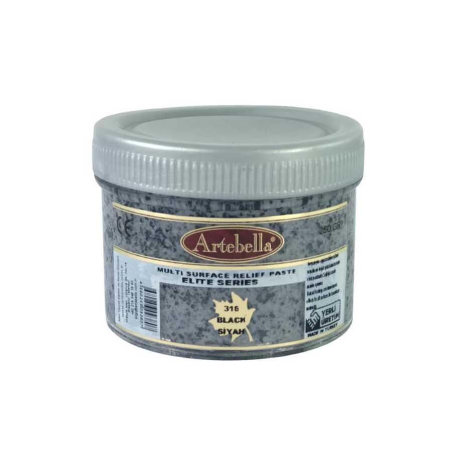 artebella elite serisi multi rolyef pasta 316 siyah 250 gr 610172 14 B