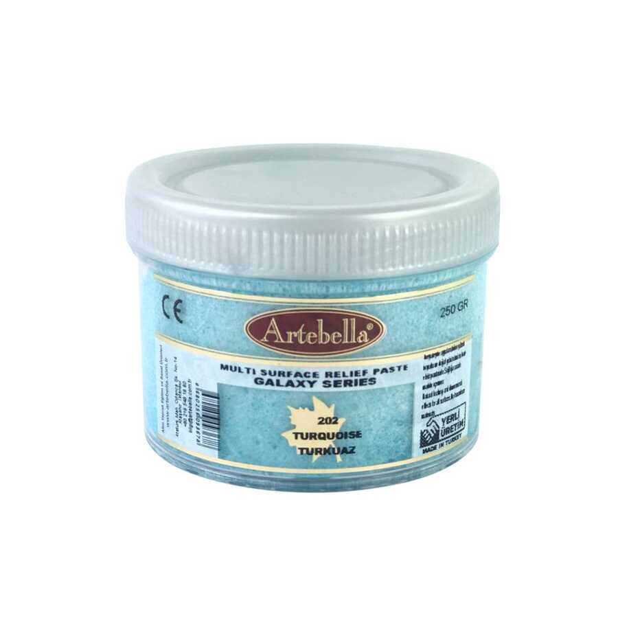 artebella galaxy serisi multi rolyef pasta 202 turkuaz 250 gr 597500 14 B -Artebella Art & Craft Hobi ve Sanat Ürünleri