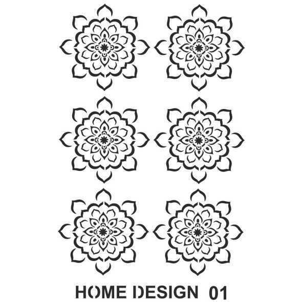 artebella home design stencil 35x50 cm 600009 14 B -Artebella Art & Craft Hobi ve Sanat Ürünleri