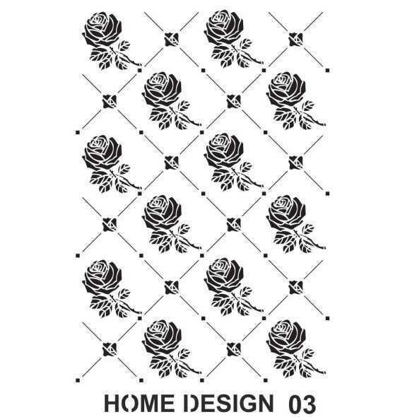 artebella home design stencil 35x50 cm hds02 597356 14 B -Artebella Art & Craft Hobi ve Sanat Ürünleri