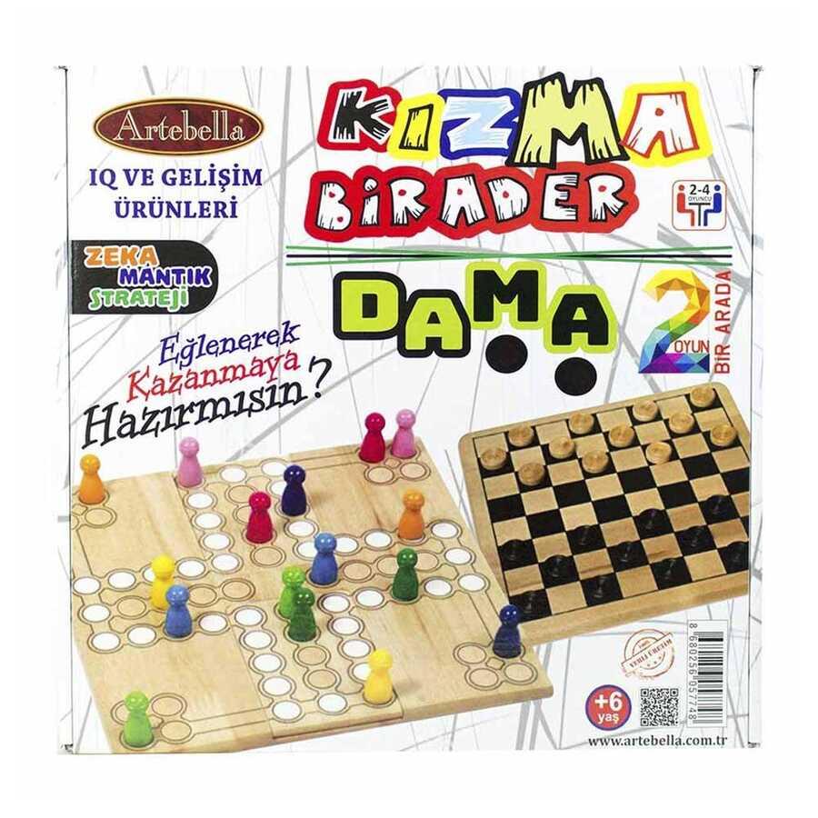 artebella kizma birader dama oyunu 32x32 cm 600173 14 B -Artebella Art & Craft Hobi ve Sanat Ürünleri