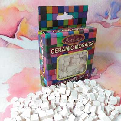 artebella seramik mozaik 6901 beyaz 8x8 mm 610011 12 B -Artebella Art & Craft Hobi ve Sanat Ürünleri