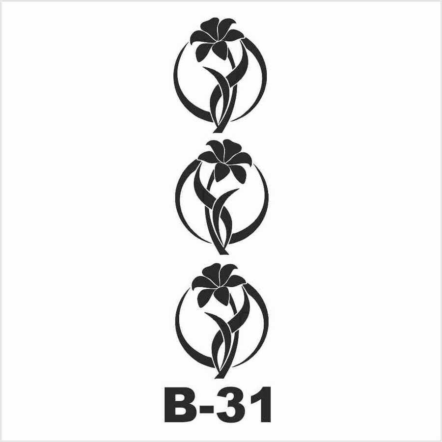 b 31 artebella stencil 10x20 cm 597025 14 B -Artebella Art & Craft Hobi ve Sanat Ürünleri