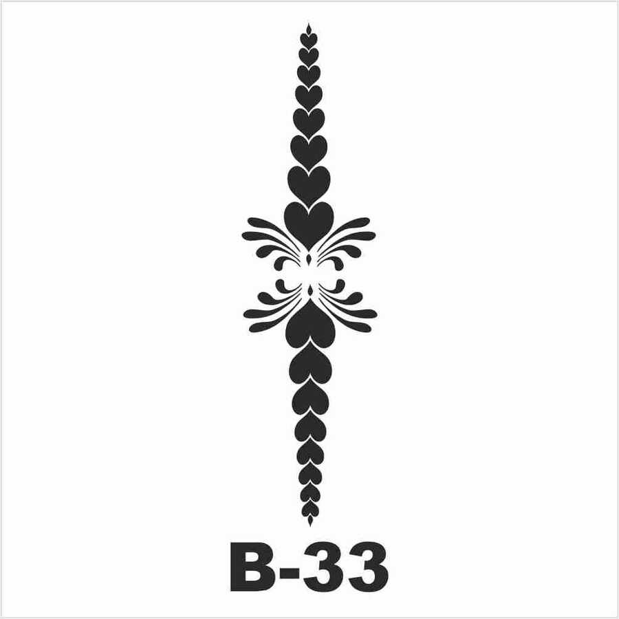 b 33 artebella stencil 10x20 cm 597029 14 B -Artebella Art & Craft Hobi ve Sanat Ürünleri