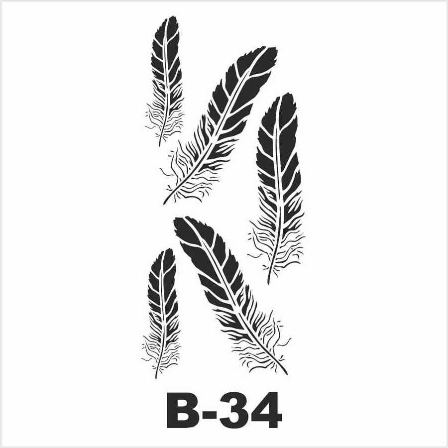 b 34 artebella stencil 10x20 cm 602239 14 B -Artebella Art & Craft Hobi ve Sanat Ürünleri