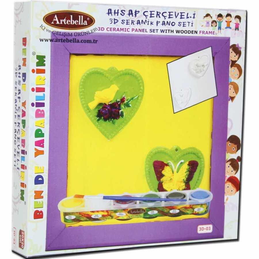 ben de yapabilirim 3d seramik pano setleri 3d 02 599805 14 B -Artebella Art & Craft Hobi ve Sanat Ürünleri