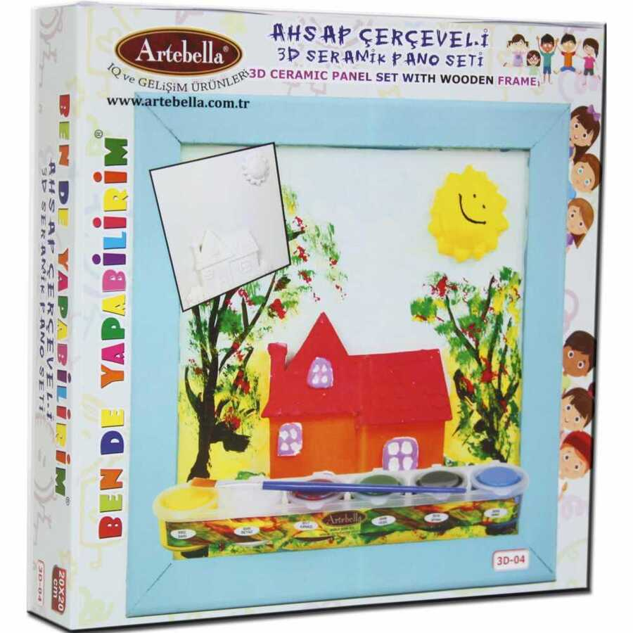 ben de yapabilirim 3d seramik pano setleri 3d 03 610088 14 B -Artebella Art & Craft Hobi ve Sanat Ürünleri