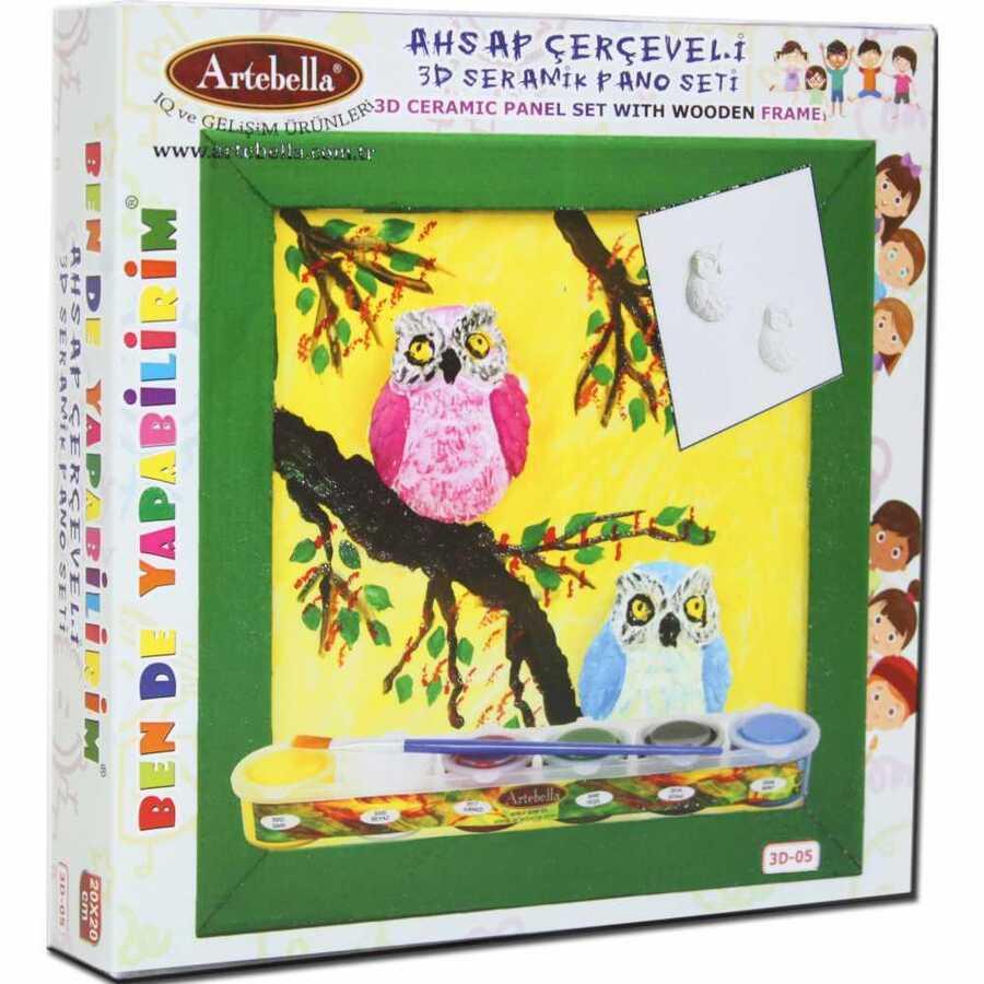 ben de yapabilirim 3d seramik pano setleri 3d 04 610094 14 B -Artebella Art & Craft Hobi ve Sanat Ürünleri