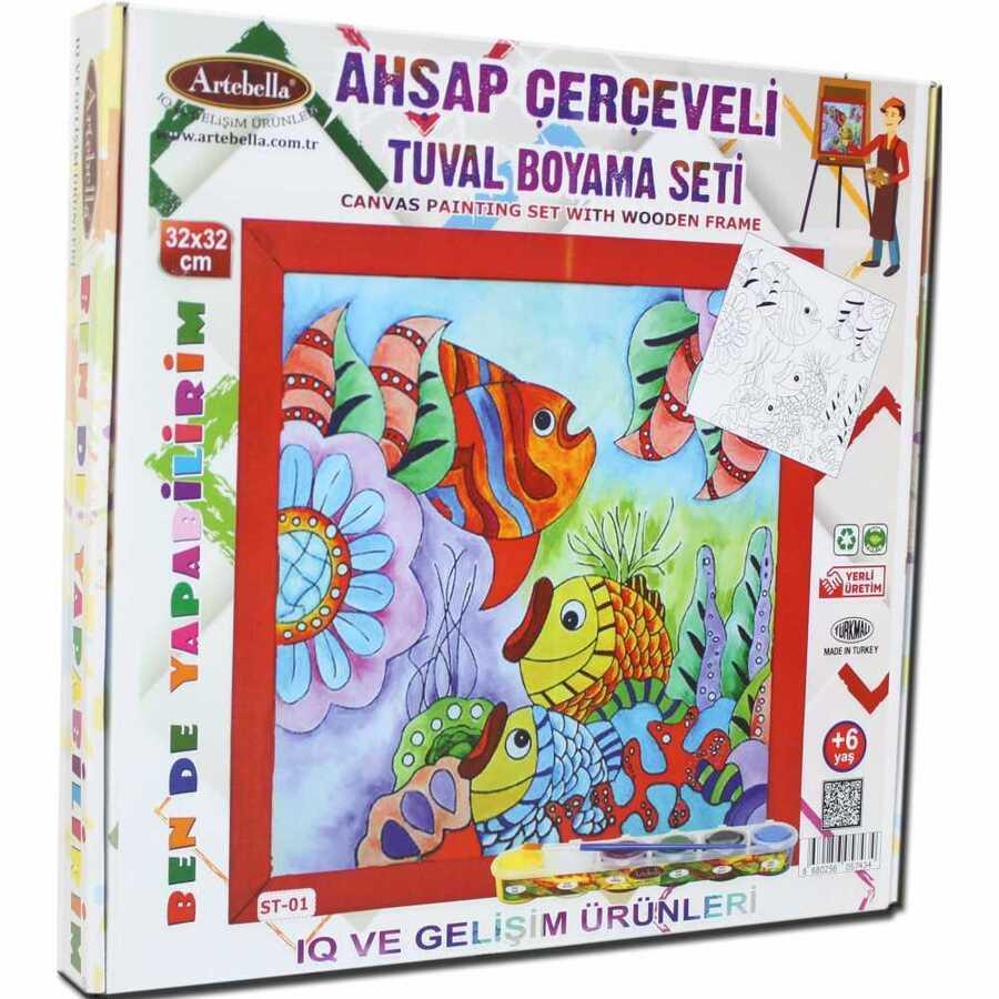 ben de yapabilirim tuval boya set akrilik boya 32x32 st 01 598248 14 B -Artebella Art & Craft Hobi ve Sanat Ürünleri