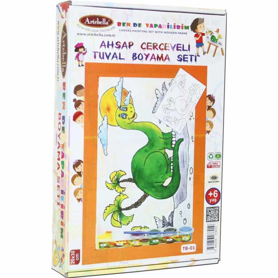 ben de yapabilirim tuval boyama seti 20x30 cm tb 01 599691 14 B -Artebella Art & Craft Hobi ve Sanat Ürünleri