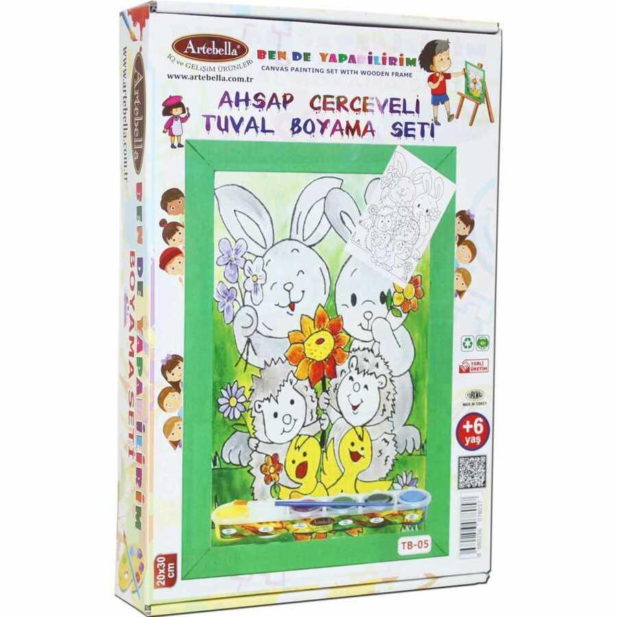 ben de yapabilirim tuval boyama seti 20x30 cm tb 05 609394 14 B -Artebella Art & Craft Hobi ve Sanat Ürünleri