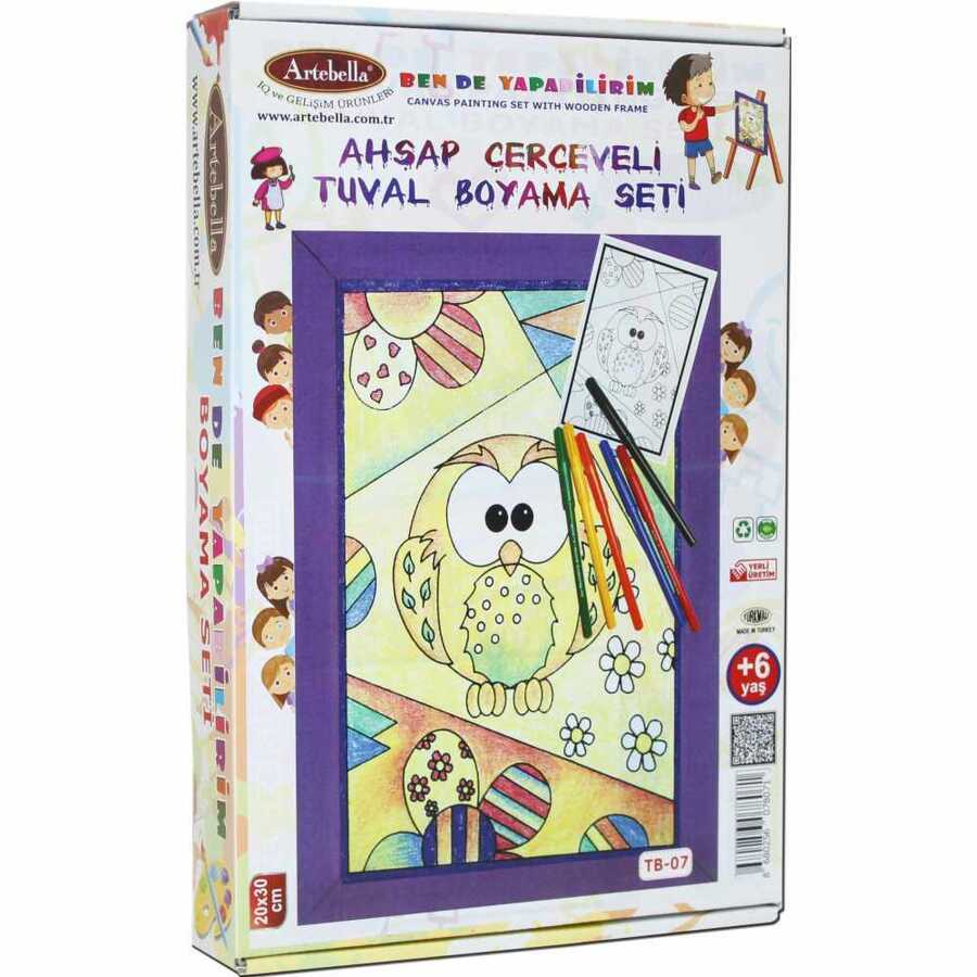 ben de yapabilirim tuval boyama seti 20x30 cm tb 07 594316 14 B -Artebella Art & Craft Hobi ve Sanat Ürünleri